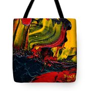 Red Balloon In The Storm Tote Bag