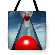 Red Balls From Space Tote Bag