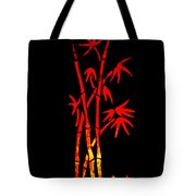 Red Bamboo Tote Bag