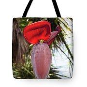 Red Banana Blossom Tote Bag