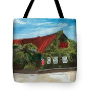 Red Bar - Blue Sky Tote Bag