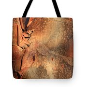 Red Bark Nature Abstract Tote Bag