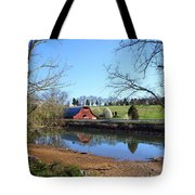 Red Barn And Pond Tote Bag