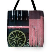 Red Barn And Wagon Wheel Tote Bag