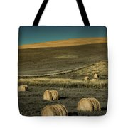 Red Barn At Haying Time Tote Bag