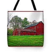 Red Barn In Ohio Tote Bag