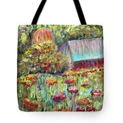 Red Barn In Summer Tote Bag