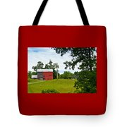 Red Barn In Upper  New York State. Tote Bag