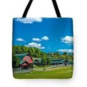 Red Barn On Hoyt Road Tote Bag