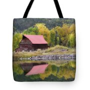 Red Barn Reflections Tote Bag