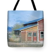 Red Barn, Route 50, Nevada Tote Bag