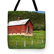 Red Barn With Cupola Tote Bag
