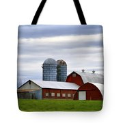 Red Barns Of 3 Tote Bag