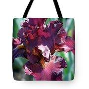 Red Bearded Iris Photograph Tote Bag