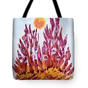 Red Beauties In The Garden Tote Bag