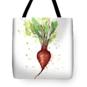 Red Beet Watercolor Tote Bag