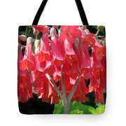 Red Bell Flowers. Sunny Spring Tote Bag