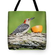 Red-bellied Woodpecker At The Feeder Tote Bag