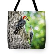 Red-bellied Woodpeckers Tote Bag