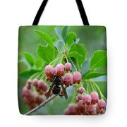 Red Bells And Wasp Tote Bag