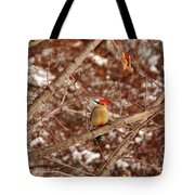 Red Belly Tote Bag