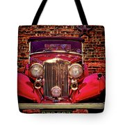 Red Bentley Convertible Tote Bag