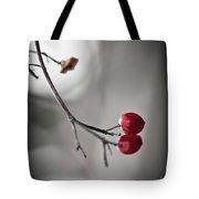 Red Berries Tote Bag by Mandy Tabatt