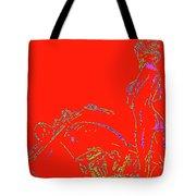 Red Biker Biatch Ps Tote Bag