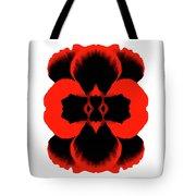 Red Black Botanical Summer Tote Bag