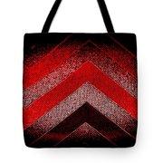 Red Black Chevron Tote Bag