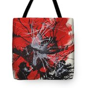 Red Black White Tote Bag