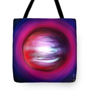 Red-black-white Planet. Twisted Time Tote Bag