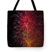 Red Blazing Fireworks Tote Bag