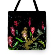 Red Blooms Tote Bag