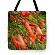 Red Blossoms Of A Firecracker Plant Tote Bag