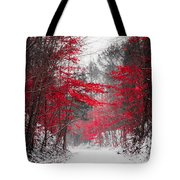 Red Blossoms  Tote Bag