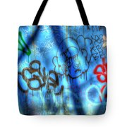 Red, Blue, And Black Tags Tote Bag