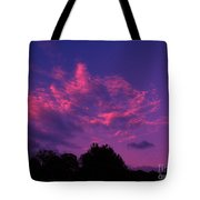 Red Blue Sky Tote Bag