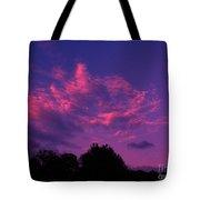 Red Blue Sky Tote Bag