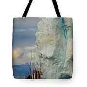 Red Boat Blue Ice Tote Bag