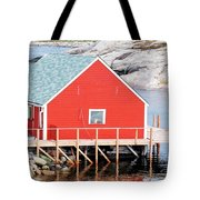 Red Boathouse Tote Bag