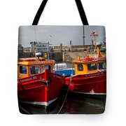 Red Boats Tote Bag