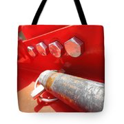 Red Bolt Action Tote Bag