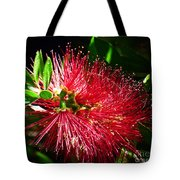 Red Bottle Brush Tote Bag