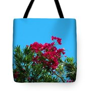 Red Bougainvillea Glabra Vine Tote Bag