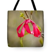 Red Bow In A Tree Tote Bag