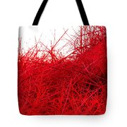 Red Expression Tote Bag