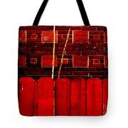 Red Brick And Sticks Tote Bag