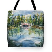 Red Bridge On Lake In The Ozarks Tote Bag