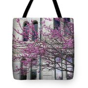 Red Buds And San Antonio City Hall Tote Bag